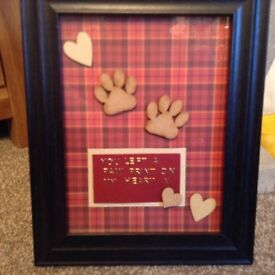Paw print picture