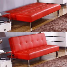 second hand safa bed red £80