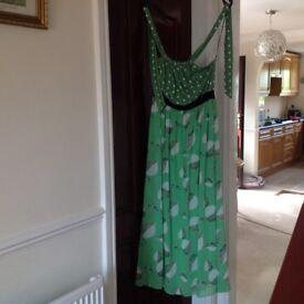 Green Maxi Dress 'Traffic People'. Unworn