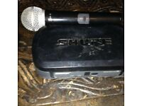 shure pg4 wireless receiver + pg58 mic