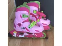 Girls pink rollerblades, inline blades, ideal first set