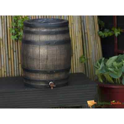 Nature Rainbutt With Wood Look 50L 38x49.5cm Brown Water Storage Container