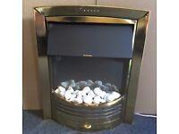 Dimplex Inset Brass Electric Fire