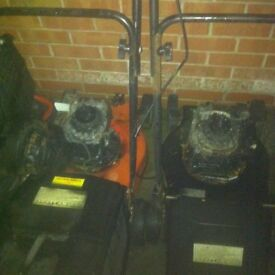 Joblot of 2 petrol lawn mowers Spairs or repairs