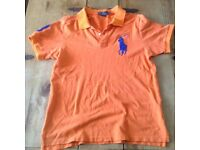 An Orange Ralph Lauren Polo Shirt - Large