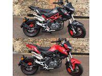 Benelli TNT 125cc x2 Black or Red