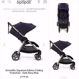 Mamas and Papas Armadillo pushchair - excellent condition with rain cover