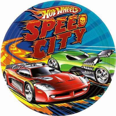 Hot Wheels Speed City Lunch Dinner Plates 8 Per Package Birthday Party Supplies (Party City Supplies Birthday)