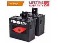 Predator Eye Night Time Solar Powered Animal Repeller - 2 Pack **Brand New**