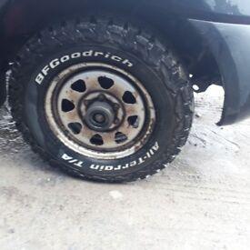 B F Goodrich tyres 235 70 r16 on steel wheels