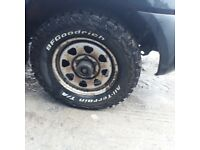 B F Goodrich tyres 235 70 r16 on steel wheels