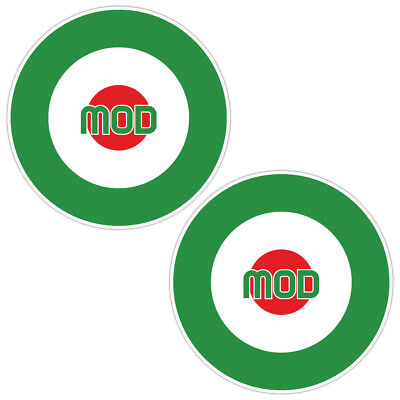 Mod Italian Laminated Stickers x2 150mm scooter motorbike motorcycle Vespa decal
