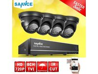 SANNCE 8CH CCTV TVI System DVR 1500TVL Dome Security Camera IR Cut Night Vision