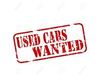WANTED cars, vans and 4x4s up to £2000 paid quick collection