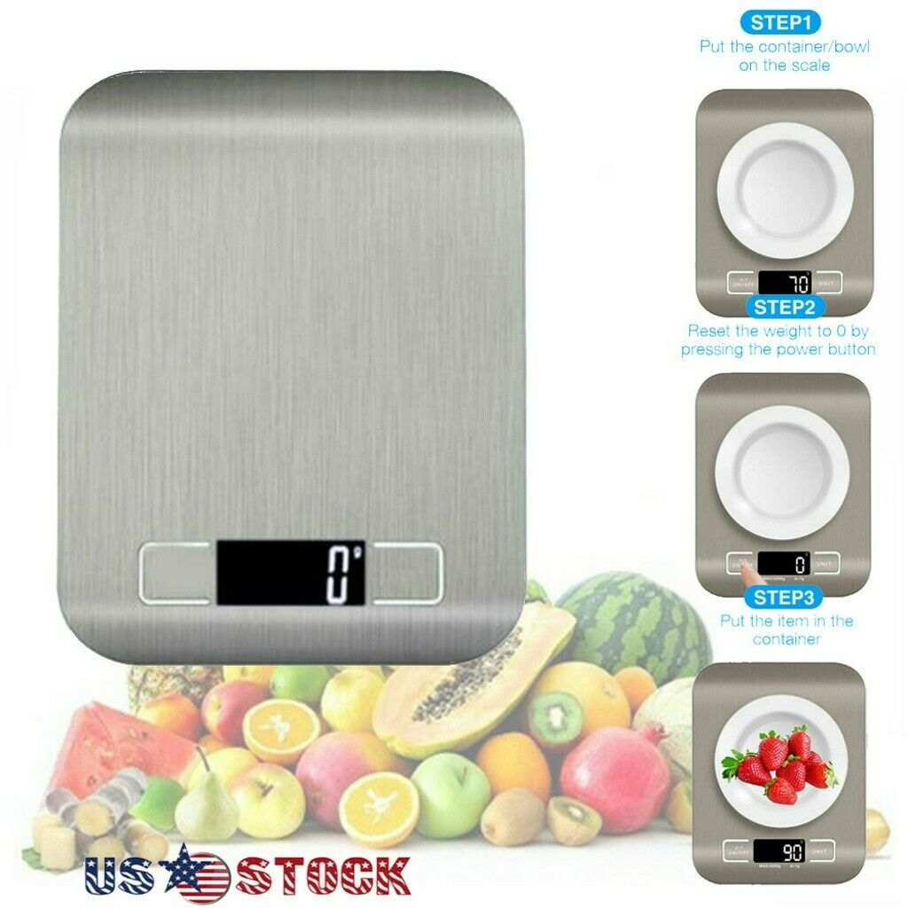 Kitchen Weight Scale Stainless Steel Food Diet Postal Scale
