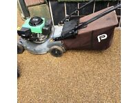 """Performance Power 40"""" 3.75HP petrol lawn mower for sale spares or repair easy fix pull cord snapped"""