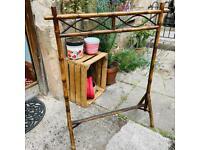 Antique bamboo cane screen