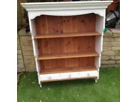 Pine wall unit (shabby chic style)