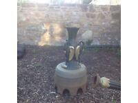 Stunning 3tier cast Victorian heron fountain