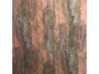 Large Brushed Copper Red Shower Panel 1m Wide x 2.4m Height Waterproof PVC Bathroom Cladding