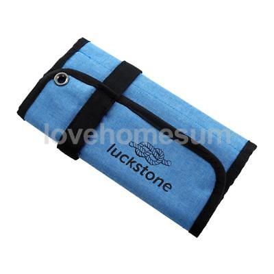 (Blue Roll up Bag for Climbing Accessories Ice Screws Protection & Organize)
