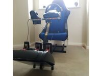 Ps3 gaming racing chair wheel and pedals