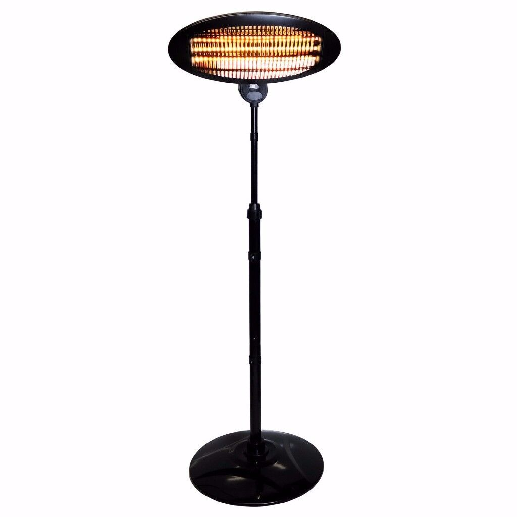 2kW Freestanding Electric Quartz Garden Patio Indoor Outdoor Heater