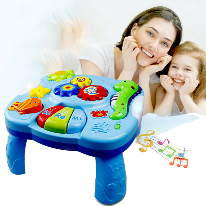 Early Learning Desk Light Music Ocean Animal Learning Table