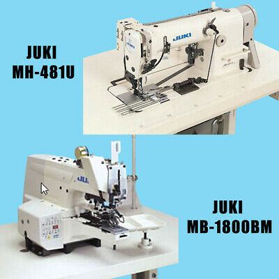 New Juki Industrial High Speed Single Double Chainstich Sewing Machines Set 2