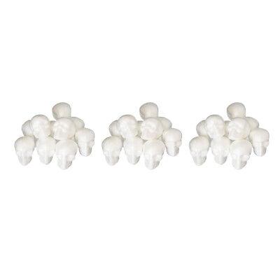 30pack 5.5cm Creative Styrofoam Foam Skull Heads Ornaments Craft Party Decor - Foam Skull Heads