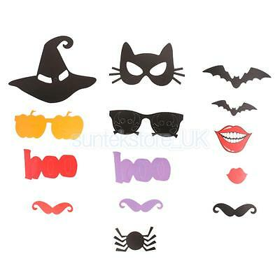 15Pcs Halloween Theme Hens Party Photo Booth Props on a stick Party Decor ()
