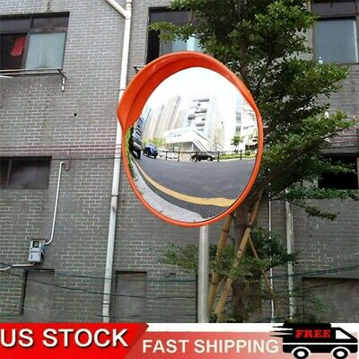 Wide Angle Security Convex Pc Mirror Outdoor Road Traffic Driveway Safety 24
