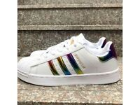 *CLEARANCE !!! WOMEN'S LIMITED EDITION ADIDAS SUPER STAR , UK 5 TRAINERS FOR SALE.LAST PAIR.!! *