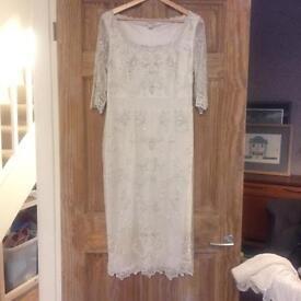 Monsoon Vintage Style Ivory Wedding Dress Size 12