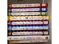 9 Diary of a Wimpy kid books (5 of 9 are hard back books)