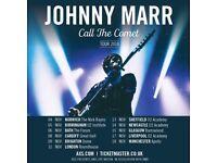 4x Johnny Marr standing tickets, O2 Apollo Manchester, Sunday 18th November 2018