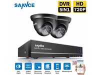 SANNCE 5IN1 4CH 1080P HDMI DVR Outdoor 720P IR-Cut Cameras Home Security System