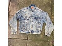 Levi's vintage acid wash denim jacket