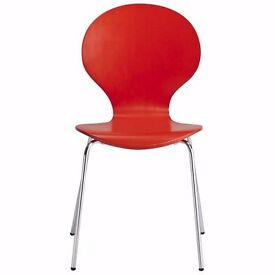 brand new X 3 Red & Chrome Dining Chairs