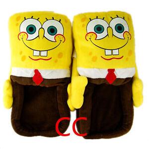 Unisex Adults Spongebob Squarepants Plush Slippers One Size UK 4-8 EU 20-34