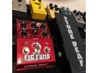 Stone deaf fig fumb big muff fuzz with expression pedal