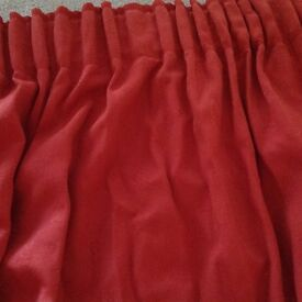 Large dark red lined curtain perfect for inside front door