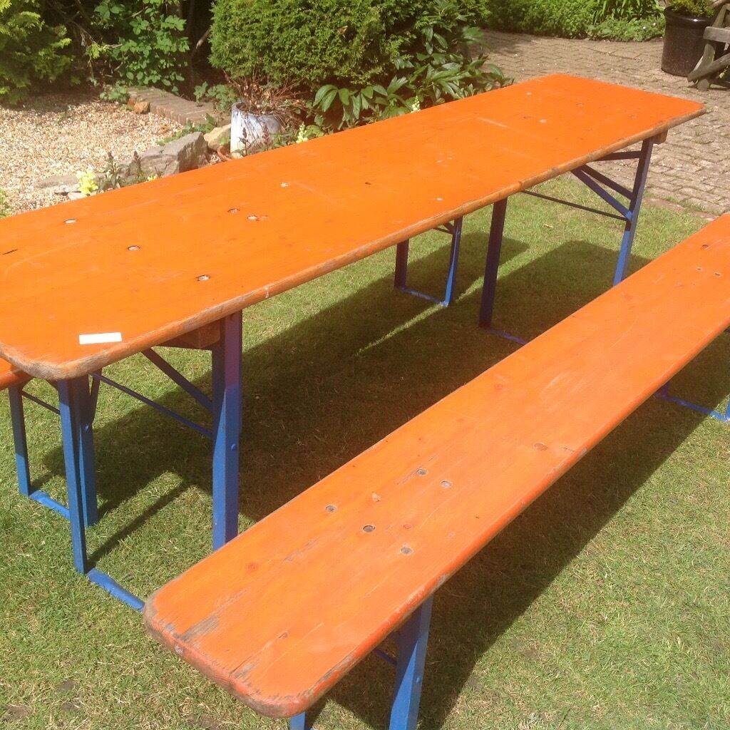 German beer garden table   bench set. German beer garden table   bench set   in Brighton  East Sussex