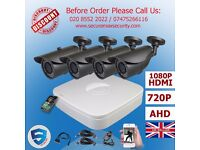 4 x HD CCTV Kit with DVR Recorder 1Mega Pixel 720P Bullet Security Cameras