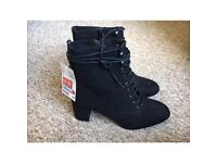 H&M Suede Heeled Boots (Still with tags)