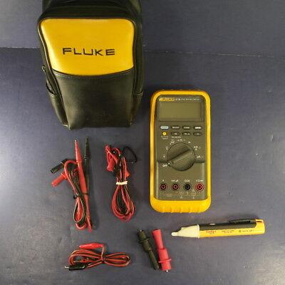 Fluke 87 Iii Multimeter Excellent Screen Protetor Soft Case