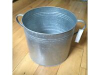 New Galvanised Garden Planter / Log Bucket