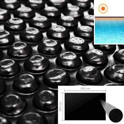 vidaXL Cubierta de Piscina Rectangulo PE Negro 260x160cm Toldo Protector Funda