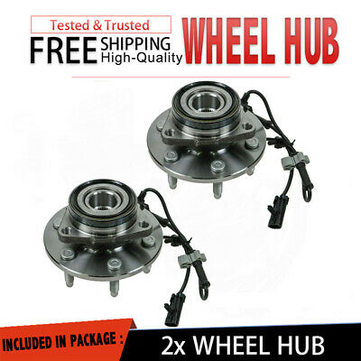 2P Front Wheel Hub With Bear Pair Set W/ ABS Fit For Chevy / GMC / Truck 4X4 4WD