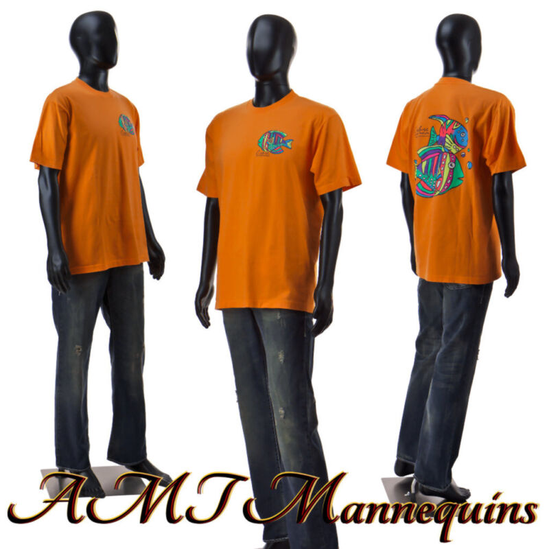 Male mannequin 6FT, display manquin +metal stand, full body black manikin-MC-2B